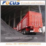 西アフリカのボーキサイトの輸送のための大きい容量45cbmの側面のダンプカーの半トレーラー