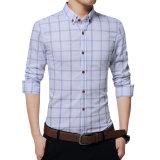 Form-Hemd-beiläufiges Hemd-langes Hülsen-Hemd-dünnes Sitz-Hemd der neuen Plaid-Hemd-Männer