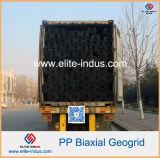 De PP polipropileno biaxial Geogrid Bx1100 Bx1200