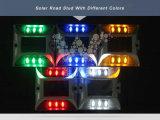 Gelber LED-blinkender quadratischer Entwurfs-Aluminiumsolarstraßen-Reflektor