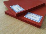 Escuro - folha Closed vermelha da gaxeta da esponja do silicone da pilha, folhas da gaxeta de espuma do silicone