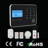 Sistema de alarme da tela de indicador do LCD com função da G/M e do PSTN