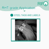 Larga vida de servicio, alta temperatura Material de la etiqueta para el hierro