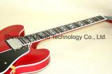 Guitare électrique du jazz Es335 avec la pente élevée Bigsby (GJ-24) d'or