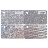Metal o tarjeta de visita transparente del PVC con número de plata de sellado caliente