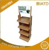 Sauter vers le haut l'étalage en bois d'étage de commerce de détail pour la boisson
