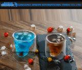 Tasse à jus de verre à corde facile à porter avec un infuseur de fruits et de citron
