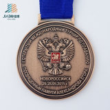 熱い販売の鋳造合金の青銅はカスタムサイクルトラックメダルを遊ばす