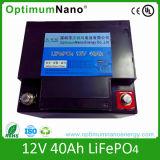 batteria di 12V 40ah LiFePO4 con il caricatore di CA