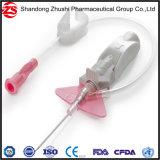 Segurança descartável cânula IV/IV cateter com porta de injeção de guarda-lamas