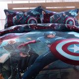 Venda por grosso de impressão 3D barata o Capitão América conjunto de roupa de cama de algodão