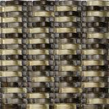 波形のクリスタルグラスの組合せの金属のモザイク