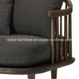 (SD-6005-2) Conjunto de madera del sofá de la tela del hotel del ocio moderno de la sala de estar