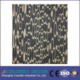 El panel de pared laminado decorativo del MDF de la onda del recubrimiento de paredes interior