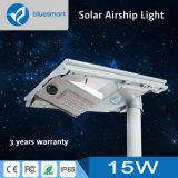 15W integrado de protección IP65/Todo-en-uno solar calle iluminación del jardín al aire libre