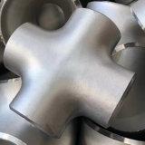 Te cruzada 316 de la te 304 de la instalación de tuberías de acero inoxidable de ASME