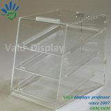 Kundenspezifischer transparenter Acrylbildschirmanzeige-Verfassungs-Kasten für Süßigkeit/Brot/Kuchen/Flower//Food