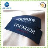 L'étiquette/étiquette tissées par vêtement en gros/a personnalisé l'impression d'étiquette de vêtement pour la lingerie (JP-CL056)