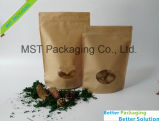 Ziplock plástico bolsa de papel Kraft de té el envasado de alimentos