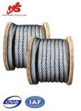 Câble galvanisé 6X19 d'avions de corde de fil d'acier pour Derricking