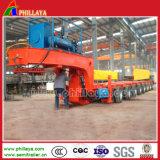 Cama hidráulica baixa semi reboque de veículos pesados de transporte da máquina