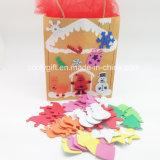 Hot Sale Non-Toxic EVA Mousse souple haute densité Die-Cut DIY Puzzle avec autocollant pour les enfants de maternelle / DIY Toy