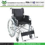 PUの足車が付いている医学のクロム染料で染められた鋼鉄車椅子