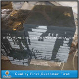 Flamed Natural China Hebei Black Granite Stone Flooring / Floor Tiles