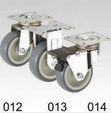 Graues Copolymer-örtlich festgelegte Platten-Oberseite-Fußrolle
