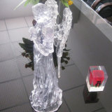 High Glossy Clear Block Gifts Crystal Clear Résine Block Display Manufacture