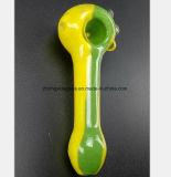 Tube en verre jaune de reprise de filtre à huile de narguilé de 4.92 pouces