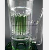 14.17 pouces de tuyau de verre filtre vert Les branches les pipes à eau