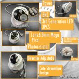 Cvi Ahd Tvi Analog Modes MvtTah43nが付いている720p Indoor CCTV Dome Camera Hybrid CCTV Camera