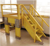 Scaletta di punto della vetroresina Ladder/FRP/scaletta di Insulative, sistema del corrimano, pedata, scaletta