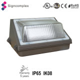 Ik08 IP65 45W 70W 100W LED Wall Pack Light com UL Dlc Ce RoHS