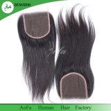 100 % Vente chaude sèche cheveux bruts de fermeture de l'homme brésilien vierge