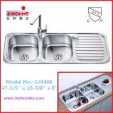50/50 дважды чашу кухня со сливной радиатора системной платы (12048)