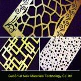 El panel perforado de aluminio del compuesto del mármol del color de la capa
