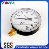 6 بوصة 160 [بس] [كمّون غس] أو سائل ضغطة مقياس مع نحاس أصفر [هبب59-1] وصلة