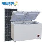 Congélateur 408L actionné solaire solaire de congélateur environnemental (BR408RF)