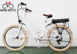 Bici elettrica della spiaggia dell'incrociatore della città grassa di modello classica della gomma