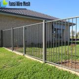 電流を通されたおよび粉の上塗を施してある鋼鉄塀