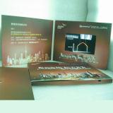 Поздравительная открытка брошюры выдвиженческого экрана LCD видео-
