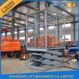 Plate-forme stationnaire de levage hydraulique de ciseaux/plate-forme de levage matérielle