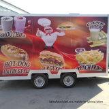 Reboque de alimentos cozinha móvel padrão Fast Food com aparelhos de reboque