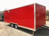 Chariot mobile de nourriture avec un guichet soulevé de ventes