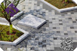 美しく装飾的で自然な屋外の花こう岩の敷石