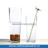 De Vierkante Duidelijke Vaas van uitstekende kwaliteit van het Glas