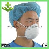 Weiße Cup-Form-Wegwerfatemschutzmaske mit Ventil