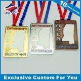 Подгонянное медаль эмали с медальоном пожалования влияния плакировкой золота
